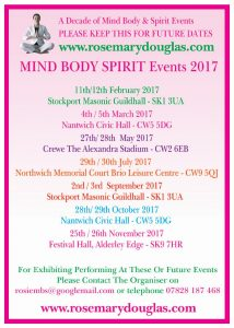 Mind Body Spirit 2017 Event Dates