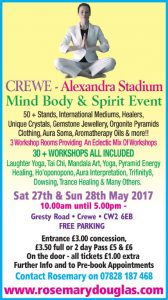 Crewe – 27th/28th May