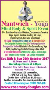 Nantwich Advert 28th / 29th October