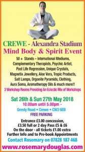 Crewe – 26th & 27th May