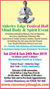 Alderley Edge – 23rd & 24th November 2019