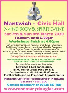 Nantwich – 7th & 8th March 2020